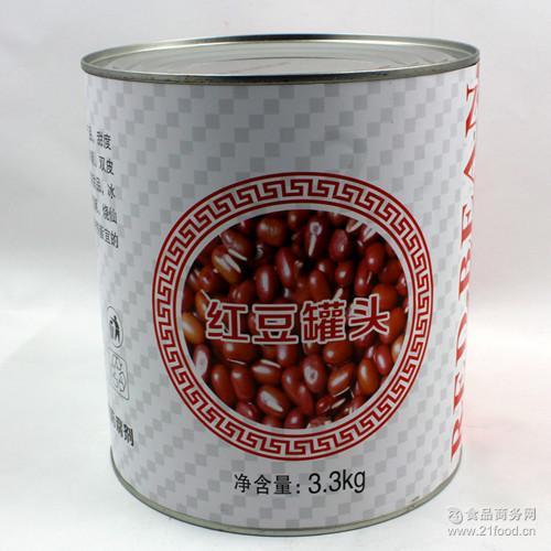甜品刨冰沙冰专用3.3kg 蜜红豆颗粒 糖水红豆罐头 茂全红豆罐头