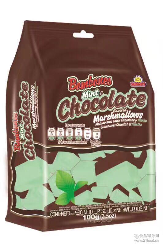 双味棉花糖 多味棉 薄荷味 歌迪亚巧克力薄荷双味棉花糖巧克力味