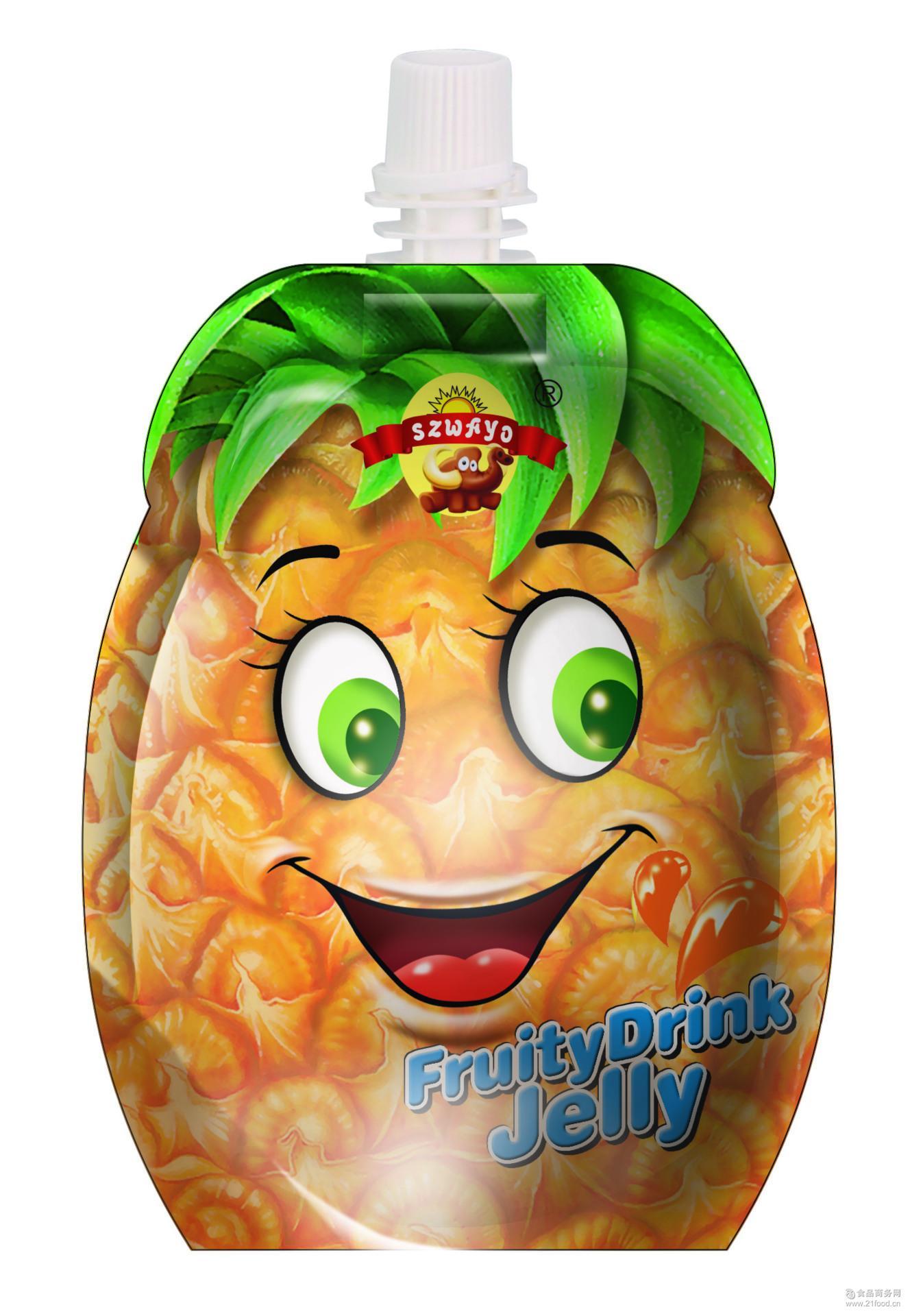 可吸果冻 果汁果冻 哇哟菠萝味可吸果冻 菠萝味