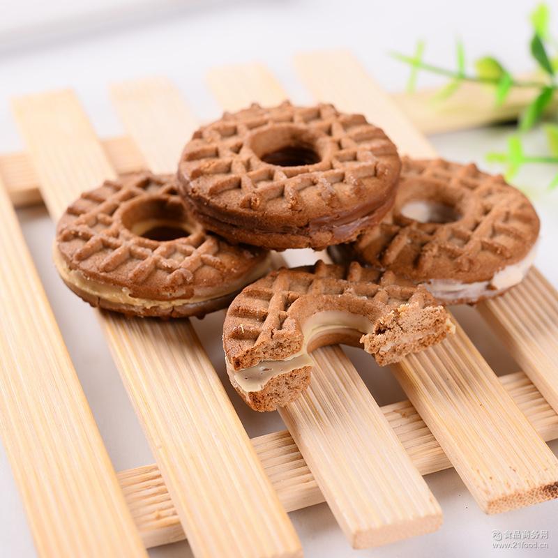 一站式零食采购批发 代可可脂食品 真巧曲奇酱芯饼干