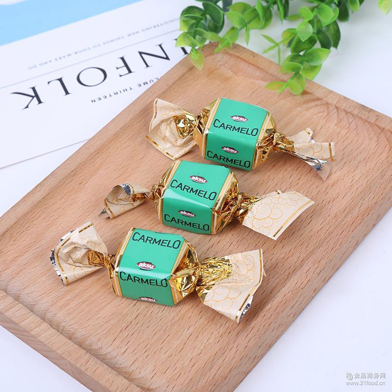 进口休闲零食2kg盒装婚庆糖果夹心巧克力糖超市*货源批发