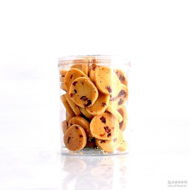 蔓越莓小饼干曲奇130g罐装批发手工饼干孕妇零食蛋糕房饼房*
