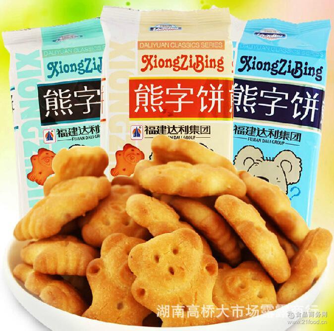 儿童* 达利园 熊字饼 10斤/箱 独立包装批发 熊行饼干散装称重