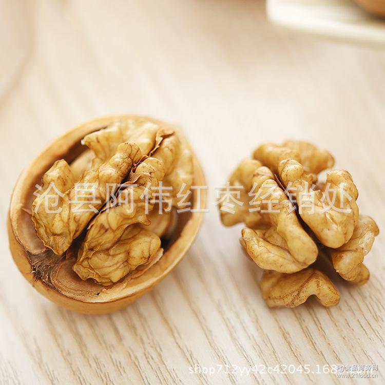 新疆阿克苏原味薄皮核桃 厂家直销 坚果零食干果新货薄皮大核桃