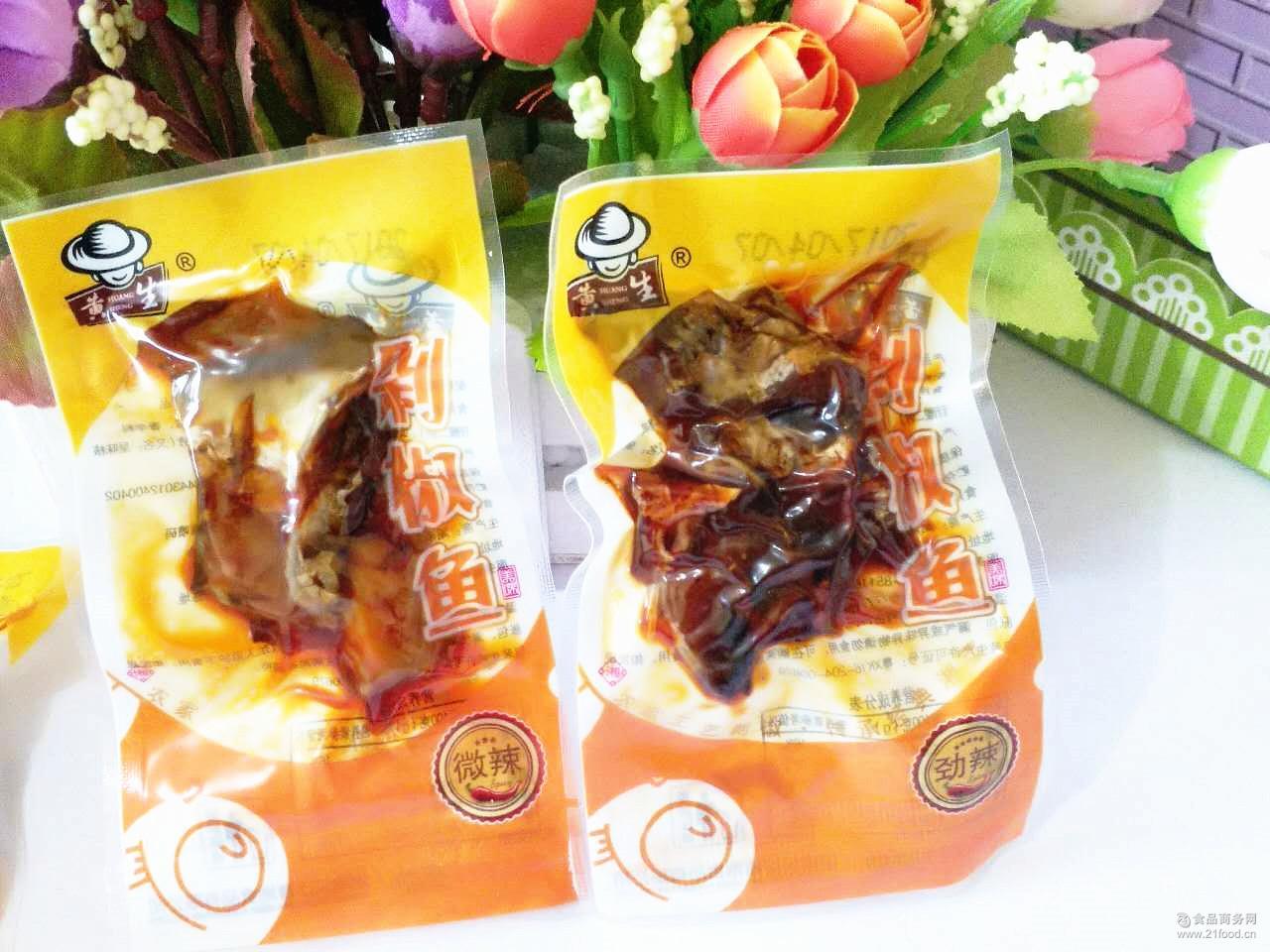 香辣鱼排洞庭乡里剁椒即食鱼类办公*零食 湖南特产黄生剁椒鱼