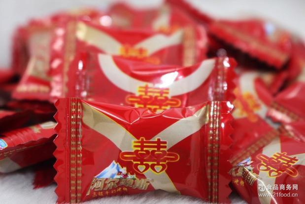 阿尔卑斯喜字糖果 一包5斤批发包邮 婚庆喜糖 糖果 -.