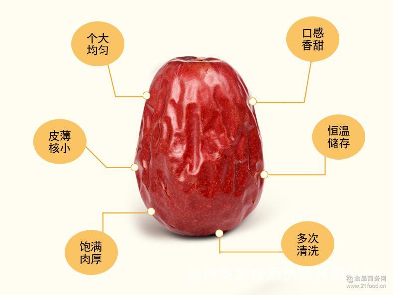 新疆大枣和田优质红枣1000g*8包/箱 新货新疆特产干果