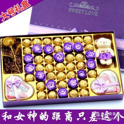 *大气浪漫 德芙巧克力礼盒 代写贺卡 创意生日情人节礼物