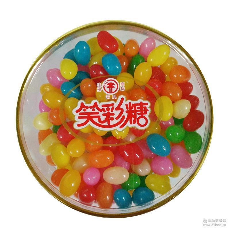天凤笑彩糖140g/盒儿童彩虹彩色圆形糖果多口味混合儿童节礼物