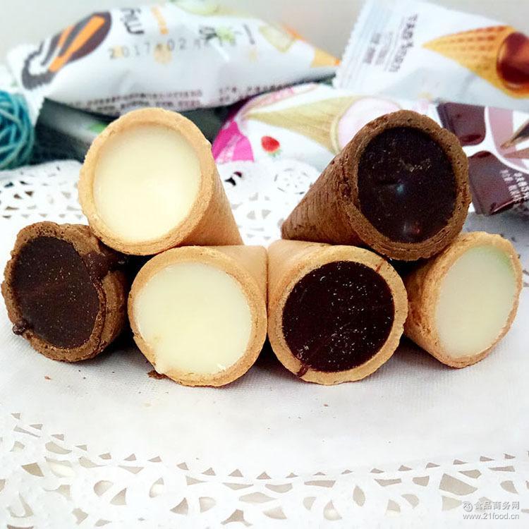 可爱多脆皮蛋筒蛋卷 代可可脂怀旧版儿童零食 迷语华夫卷巧克力