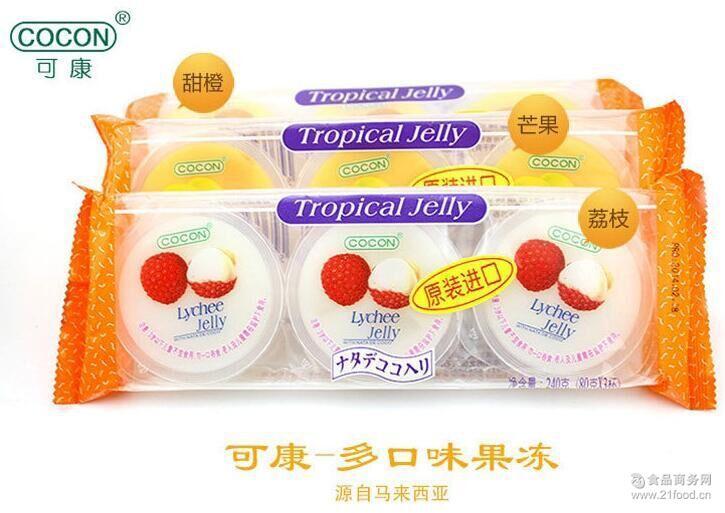 马来西亚可康COCON品牌多种水果味椰果果冻批发 进口休闲食品240g
