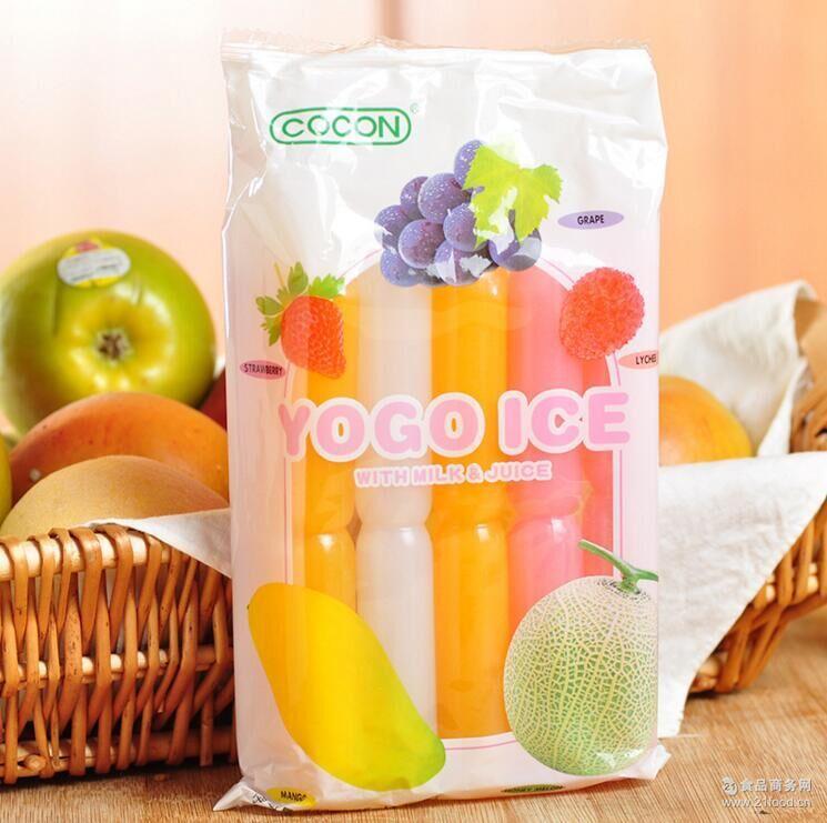 进口果冻可康棒棒冰综合口味/芒果味果冻450ml 马来西亚果冻