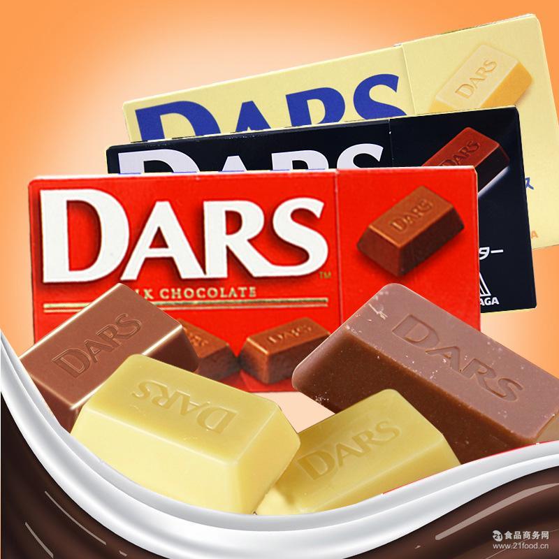 黑 白 批发 牛奶巧克力48g 日本原装进口巧克力 森永dars巧克力