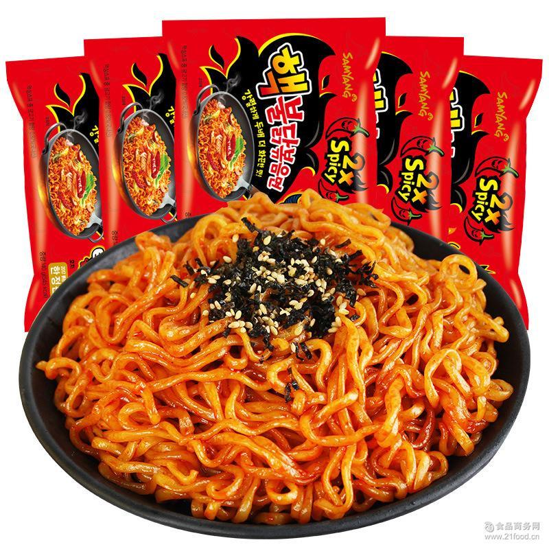 韩国进口 三养核弹火鸡面 140g*5包倍辣鸡肉味速食拌面