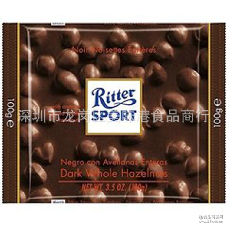 德国进口运动瑞特斯波德可可慕斯夹心巧克力100g