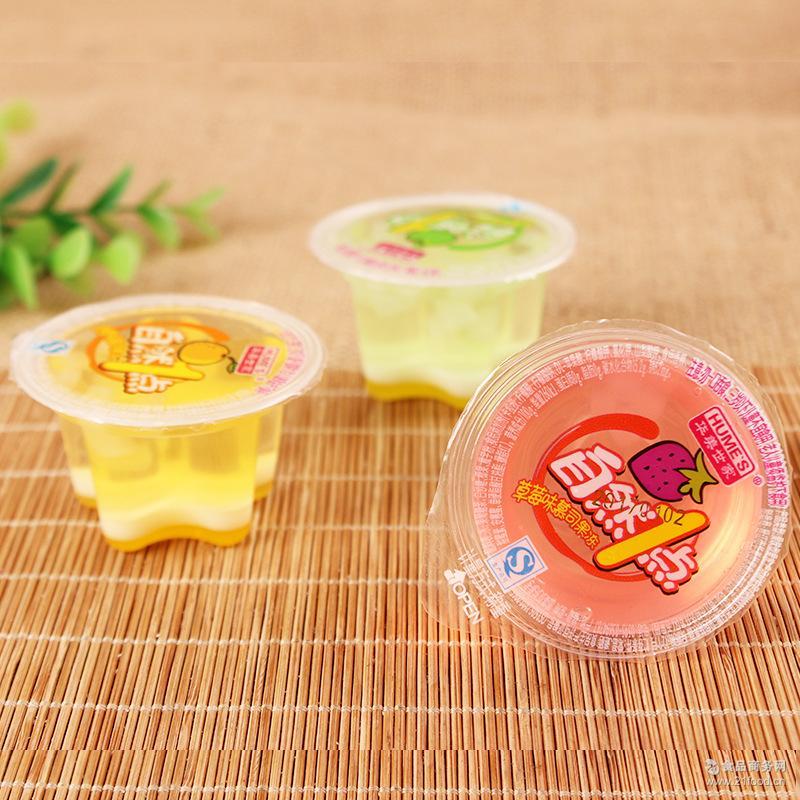 散装自然1点慕斯果冻 华美世家 休闲零食爽滑Q弹水果口味 10斤/箱