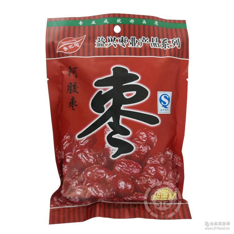 蜜饯果脯营养小吃甜金丝枣休闲零食品 枣艺园220g阿胶贡枣