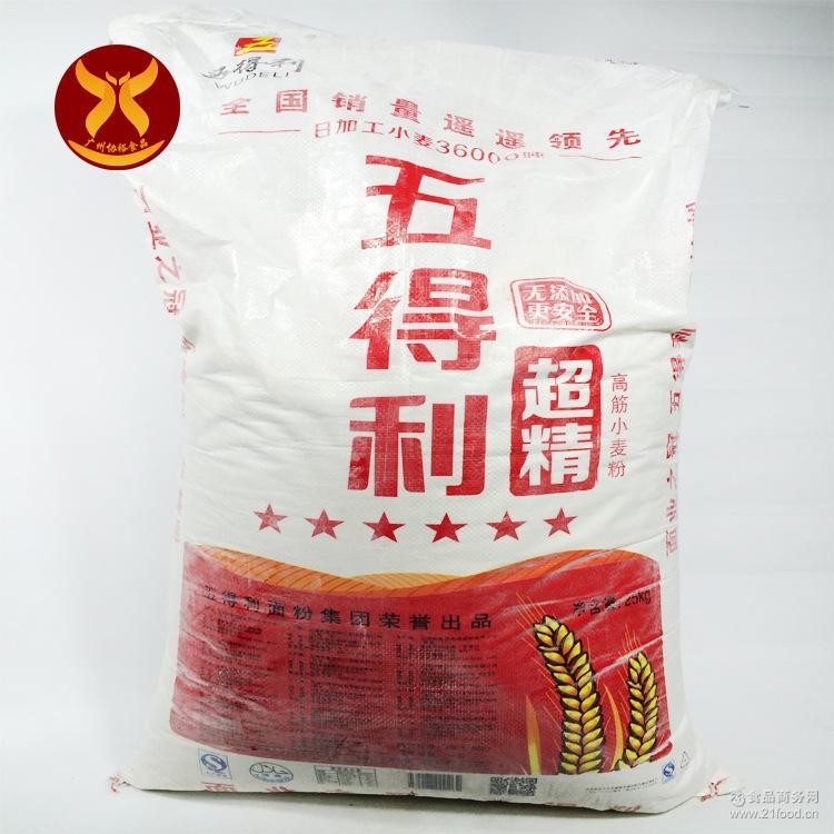 米面类 面粉 > 六星面包粉 厂家直销 五得利超精面粉 供应 25kg一袋