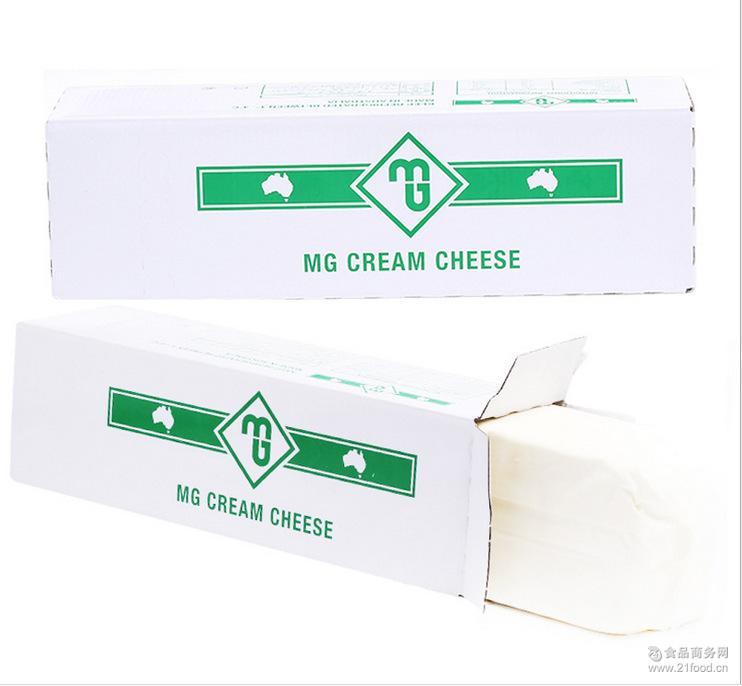 芝士蛋糕*2kg*6原装 忌廉芝士 MG奶油奶酪 奶油芝士 澳洲进口