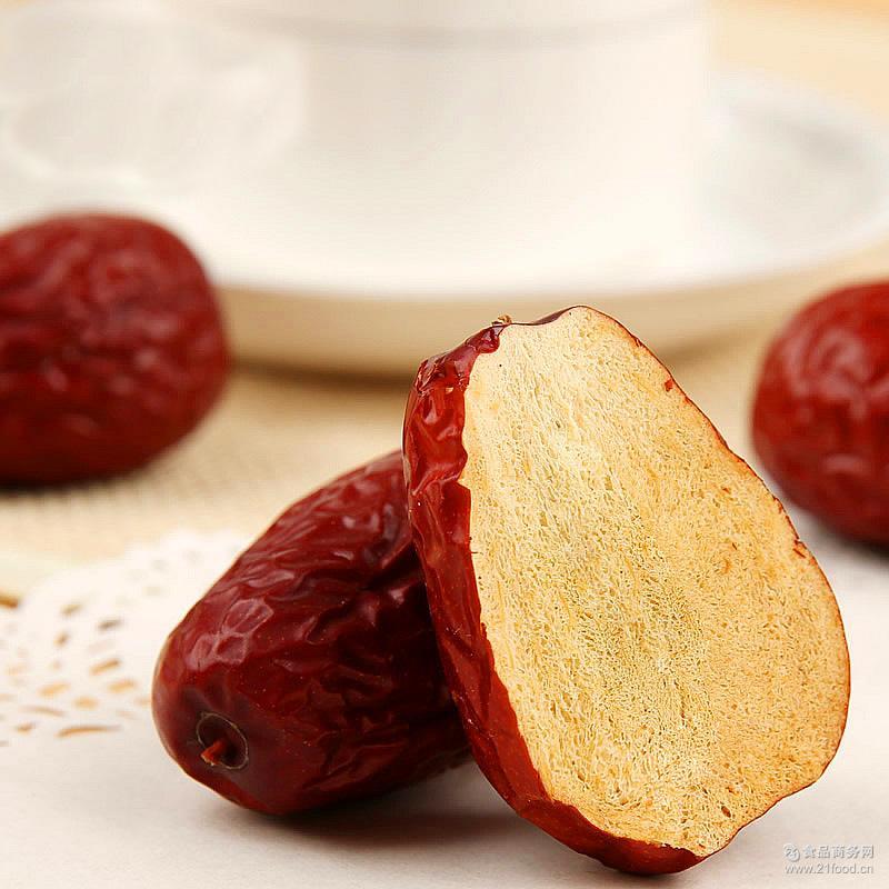 散装和田玉枣批发厂家直销 新疆特产大枣干果500g 和田红枣二级