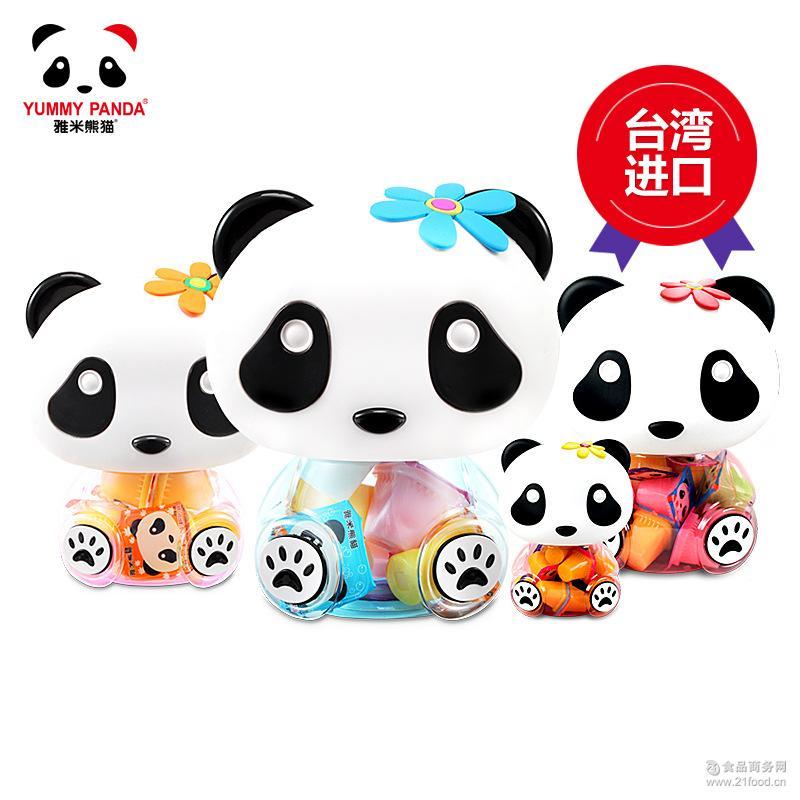 儿童食品果冻布丁批发224g 雅米熊猫小熊猫罐果冻 台湾进口