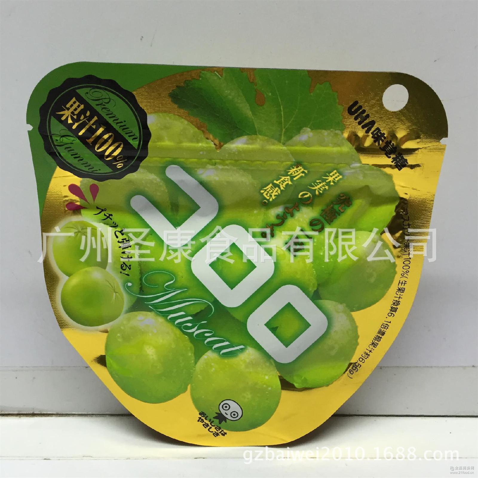 /水果软糖 批发日本进口悠哈UHA味觉*葡萄软糖40克