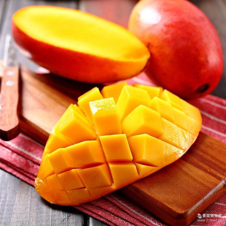 热带水果海南中贵妃芒果香甜多汁红金龙火爆新鲜水果