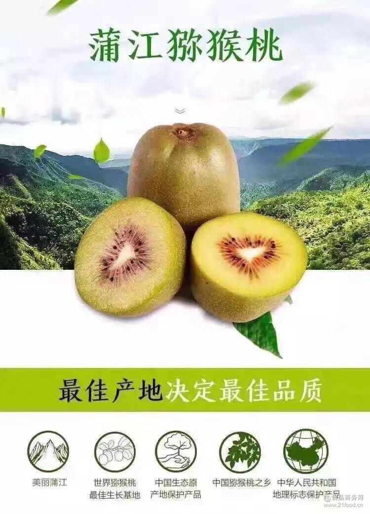 四川猕猴桃新鲜水果蒲江红心猕猴桃红阳大果孕妇儿童水果5斤包邮