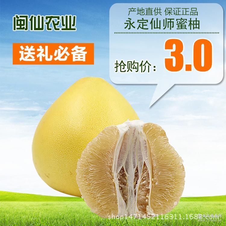 客家土楼永定自家山地种植白肉蜜柚闽仙生态蜜柚产地直销批发柚子