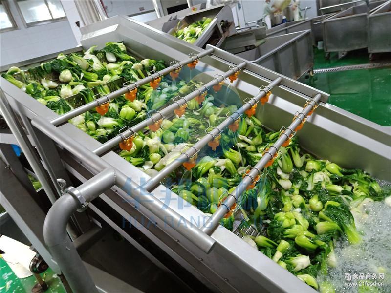 净菜加工流水线 hb3500zq 菠菜大产量鼓泡蔬菜清洗机图片