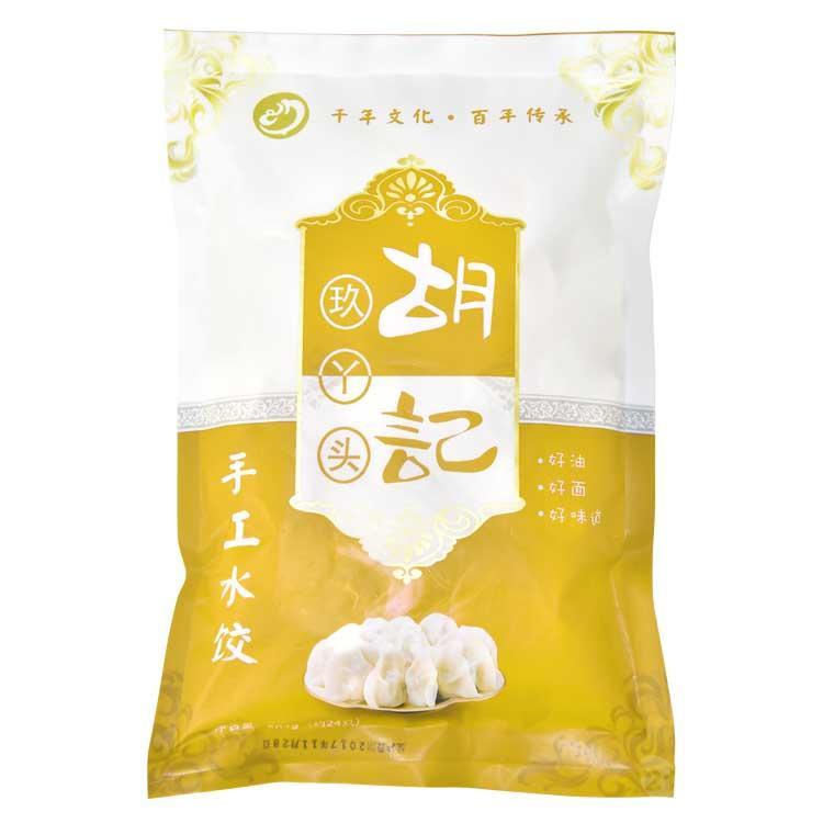 胡记玖丫头品牌 速冻韭菜鸡蛋馅水饺子 504g