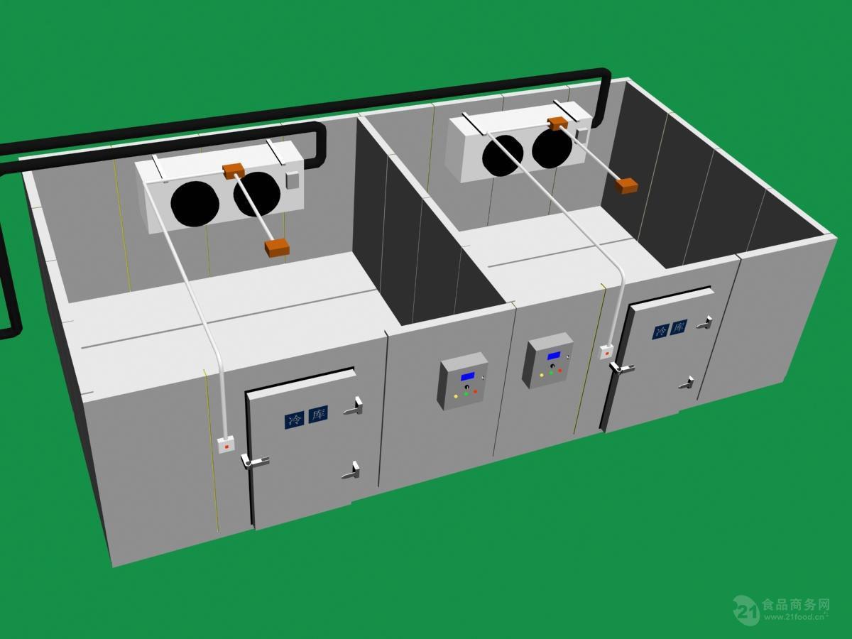 冷联厨房冷库解决方案 餐饮冷库 食品双温冷库安装
