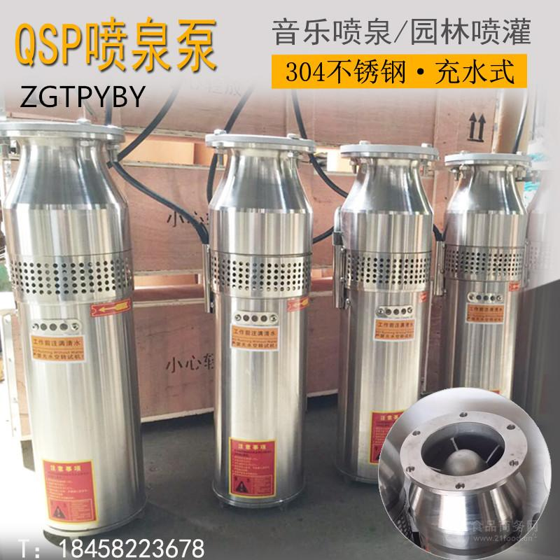 浙江台州三相电动喷泉泵 充水式潜水泵 铸铁式专用喷泉泵