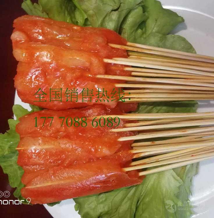 南昌把把小鲜肉铁板烧烤猪肉串鸡肉串30串/把 专业厂家批发