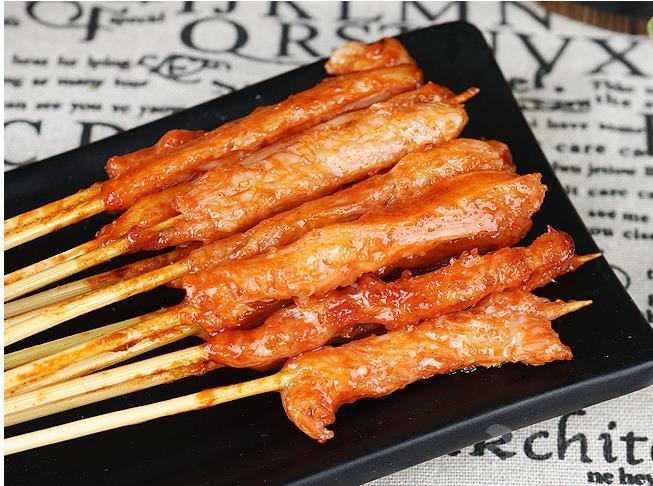 网红铁板猪肉串鸭肠串鸡肉小串鱿鱼厂家批发