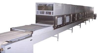 红枣片烘干杀菌设备,微波枣片隧道炉