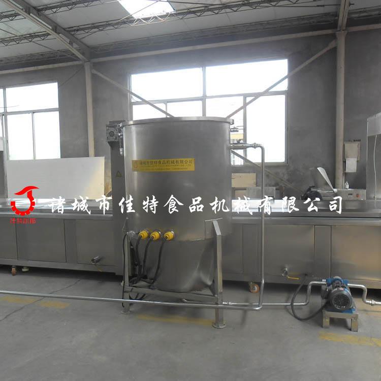 江苏虾饼油炸机 刮渣式油炸机