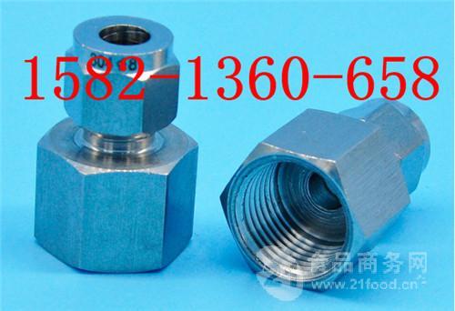 304不锈钢内螺纹直通卡套接头G3/8-6/8/10mm