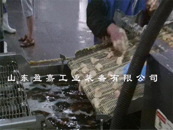 江苏全自动鸡米花上浆上粉油炸机