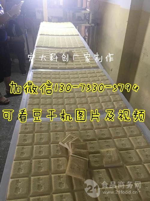 全自动豆腐干机生产线包括三联磨浆机 煮浆桶 压豆干机器