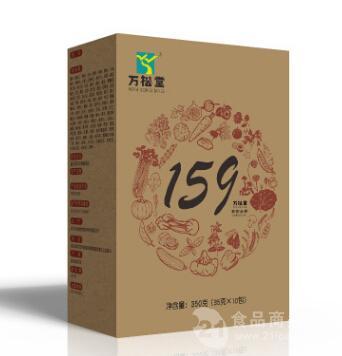万松堂159素食全餐厂家招商五谷杂粮粉批发固体饮料加工
