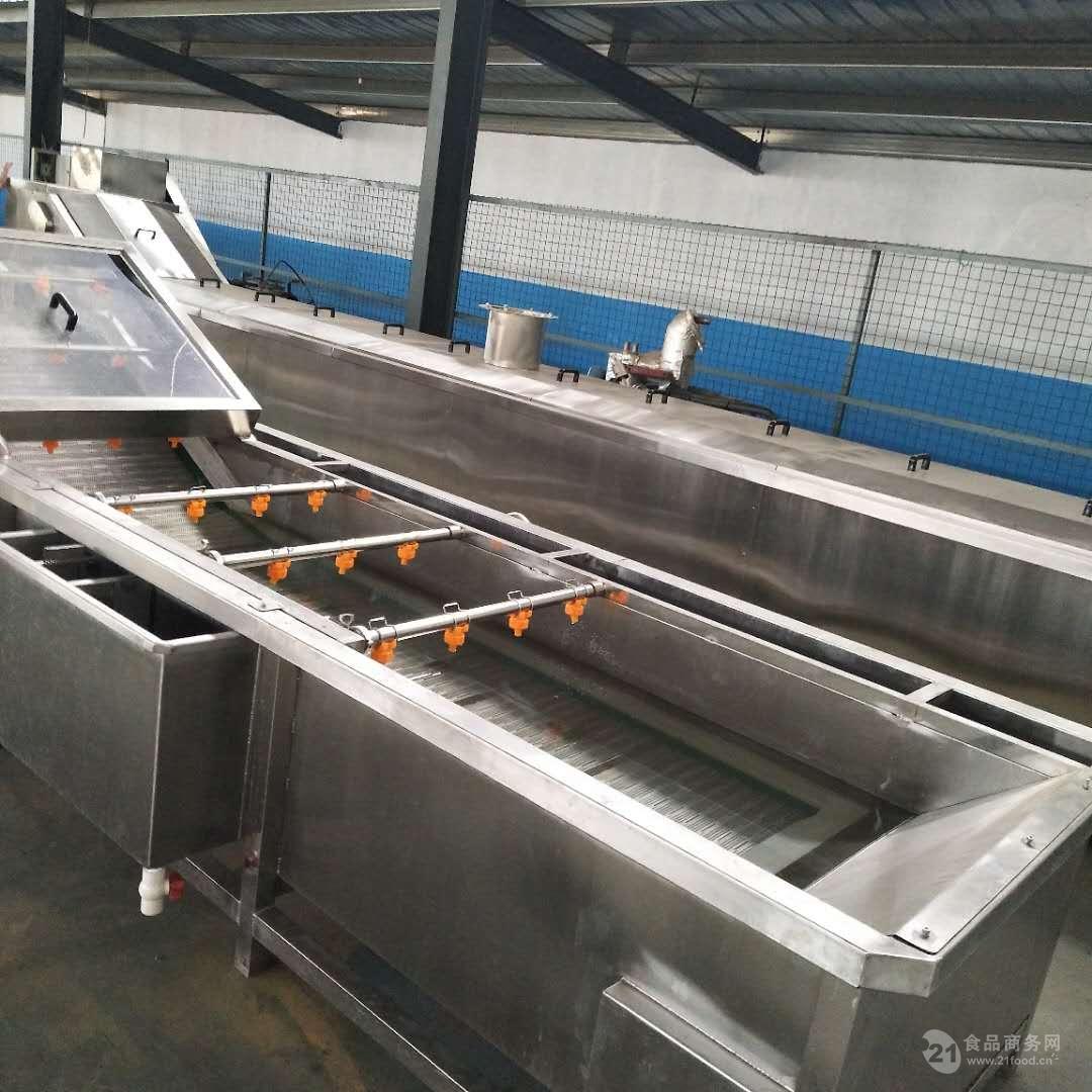 蔬菜去农药清洗设备超市鲜菜配送清洗流水线
