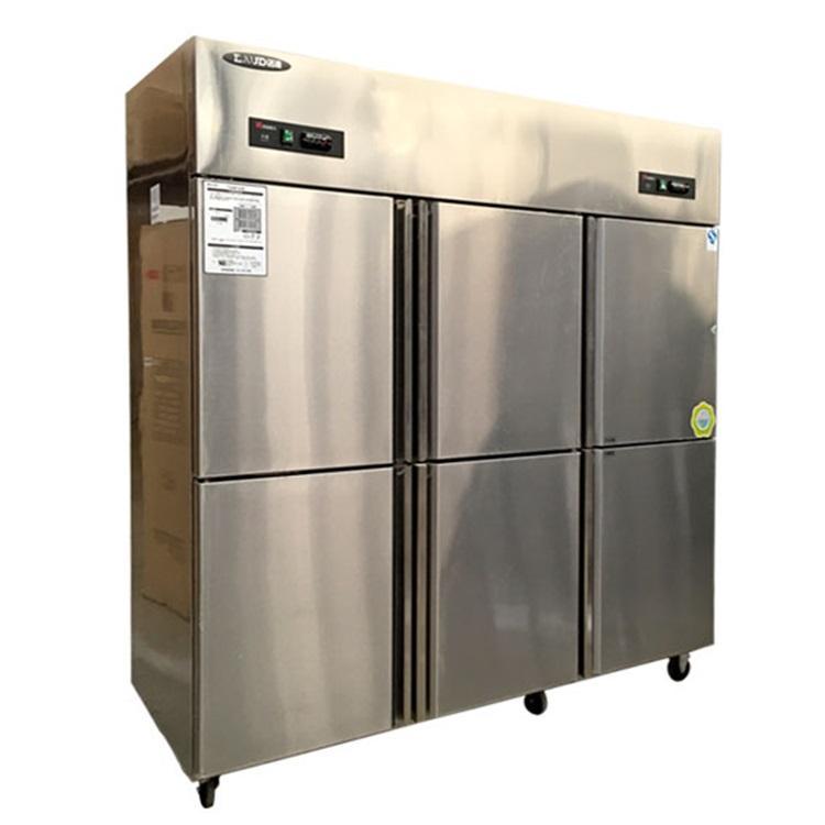 洛德六门冰箱 不锈钢六门双温冰箱QB1.6L6LD-H