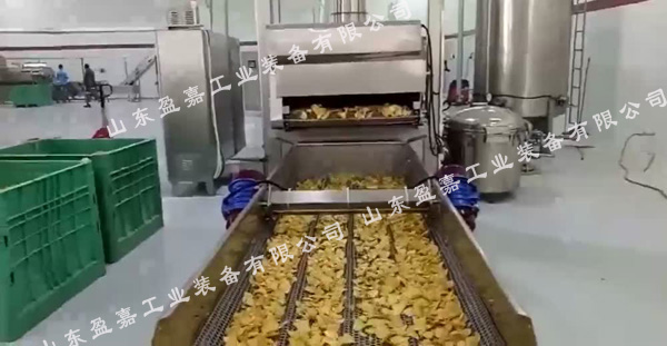 好用的薯片油炸机厂家  盈嘉全自动薯片油炸机