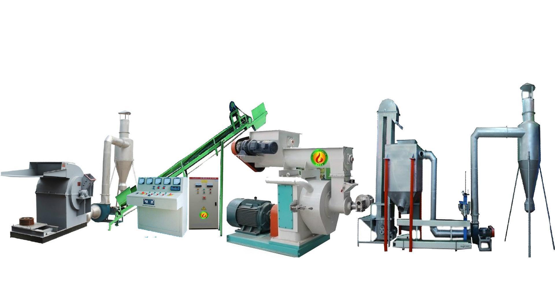 该产品环形模具,立向结构,利于制粒室散热降温,这就可以增加锯末颗粒