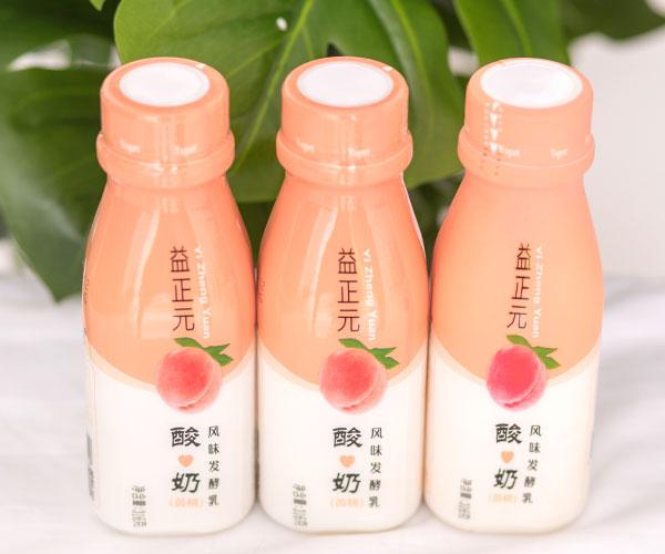 益正元黄桃味果味酸奶酸奶饮品
