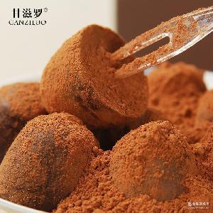 零食批发礼品一 厂家直销 甘滋罗纯可松露巧克力102g礼盒 红枣味