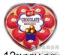 甜蜜香浓糖果巧克力批发 厂家直销巧克力礼盒 8粒心形巧克力