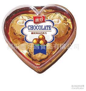 送礼糖果巧克力 休闲零食巧克力礼盒3粒心形 休闲食品巧克力批发