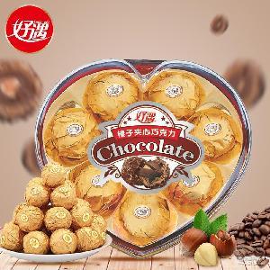 婚庆糖果休闲零食巧克力厂家直销批发 榛子威化巧克力8粒心形103g